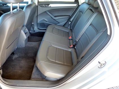 2013 Volkswagen Passat rear seat
