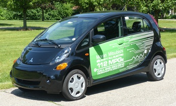 i-MiEV Reviews: Mitsubishi i-MiEV front quarter view