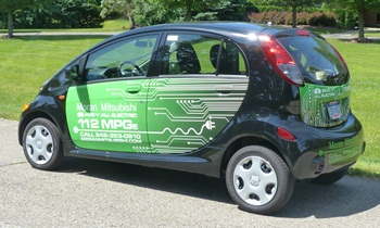 i-MiEV Reviews: Mitsubishi i-MiEV rear quarter