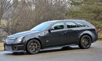 CTS Reviews: Cadillac CTS-V wagon front quarter view