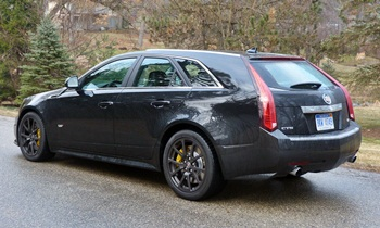 CTS Reviews: Cadillac CTS-V wagon rear quarter view