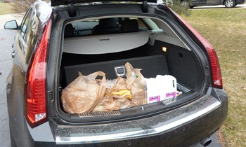 CTS Reviews: Cadillac CTS-V wagon cargo area