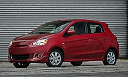 Hatch Models at TrueDelta: 2015 Mitsubishi Mirage exterior