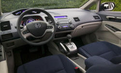 Coupe Models at TrueDelta: 2008 Honda Civic interior