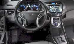 Coupe Models at TrueDelta: 2013 Hyundai Elantra interior