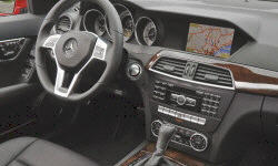 Coupe Models at TrueDelta: 2014 Mercedes-Benz C-Class interior