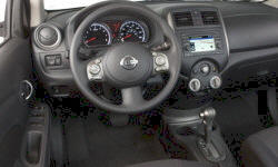 Nissan Models at TrueDelta: 2014 Nissan Versa interior