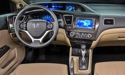 Coupe Models at TrueDelta: 2015 Honda Civic interior