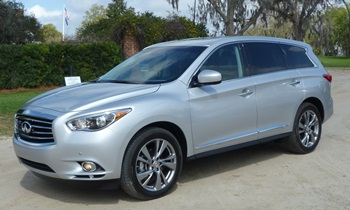 Infiniti JX Photos: Infiniti JX front quarter view