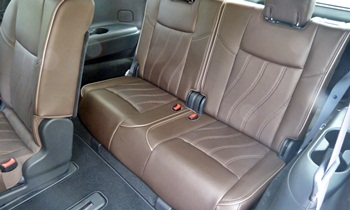 Infiniti JX Photos: Infiniti JX third row seats
