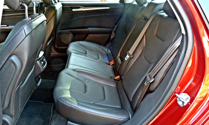 Fusion Reviews: 2013 Ford Fusion Titanium back seat
