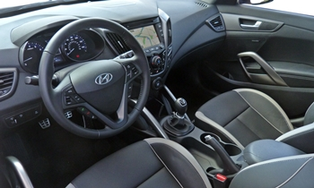 Veloster Reviews: Hyundai Veloster Turbo interior