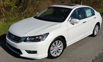 Accord Reviews: Honda Accord EX-L front quarter view high angle
