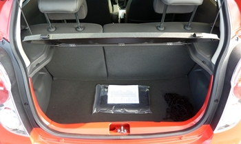 Spark Reviews: Chevrolet Spark cargo area