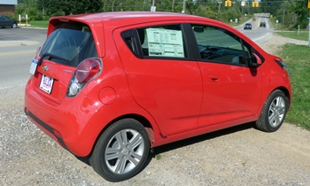 Spark Reviews: Chevrolet Spark rear quarter view