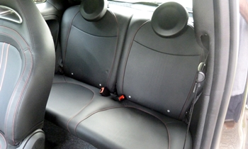500 Reviews: FIAT 500 Abarth rear seats