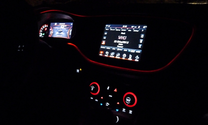 Dodge Dart Photos: 2013 Dodge Dart Limited instrument panel at night