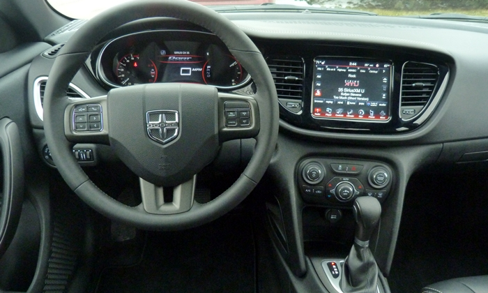 Dart Reviews: 2013 Dodge Dart Limited instruments and controls