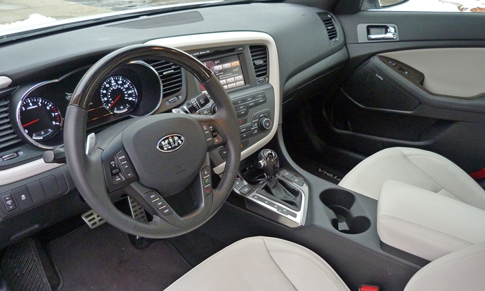Optima Reviews: 2013 Kia Optima SXL interior
