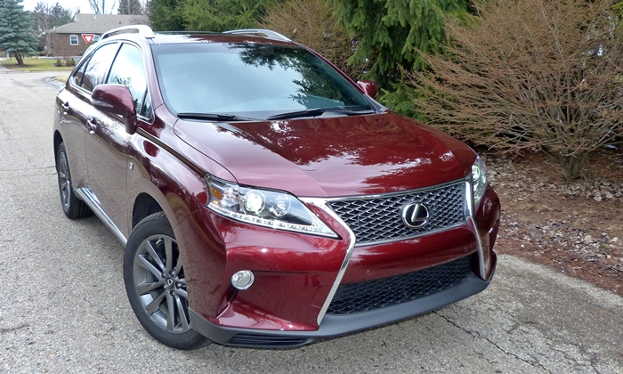 RX Reviews: 2013 Lexus RX 350 F Sport front view (almost)