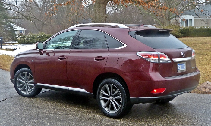 RX Reviews: 2013 Lexus RX 350 F Sport rear quarter view