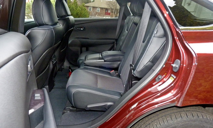 RX Reviews: 2013 Lexus RX 350 F Sport rear seat