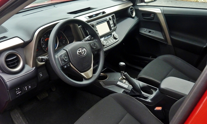 RAV4 Reviews: 2013 Toyota RAV4 XLE interior