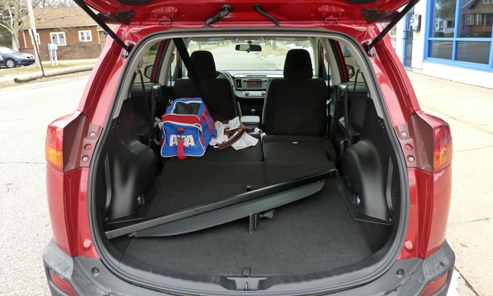 RAV4 Reviews: 2013 Toyota RAV4 cargo area with seat folded