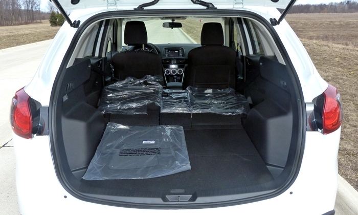CX-5 Reviews: 2014 Mazda CX-5 Touring cargo space seats folded