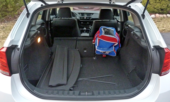 X1 Reviews: 2013 BMW X1 xDrive28i cargo with seat folded