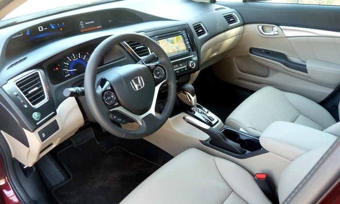 Civic Reviews: 2013 Honda Civic EX-L interior