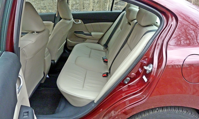 Civic Reviews: 2013 Honda Civic EX-L rear seat