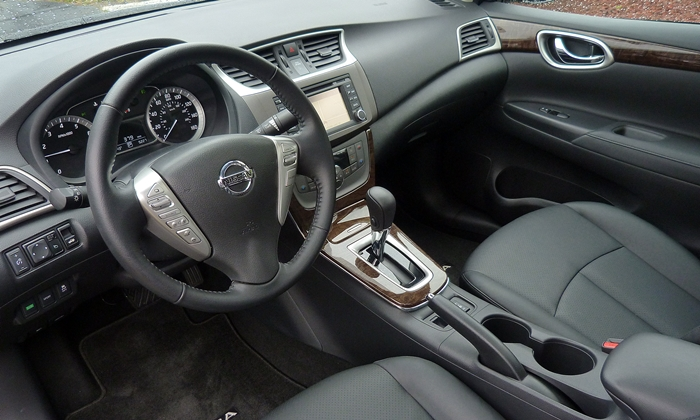 Sentra Reviews: 2013 Nissan Sentra SL interior