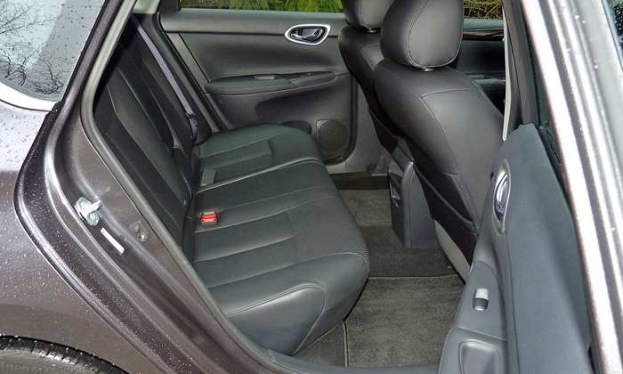 Sentra Reviews: 2013 Nissan Sentra SL rear seat