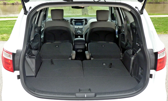 Superb Hyundai Santa Fe Photos: 2013 Hyundai Santa Fe Cargo Area Both Rows Folded