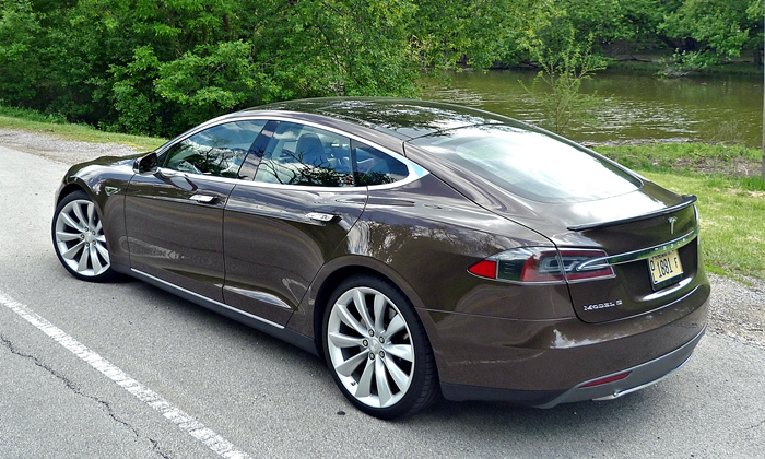 Model S Reviews: Tesla Model S rear quarter