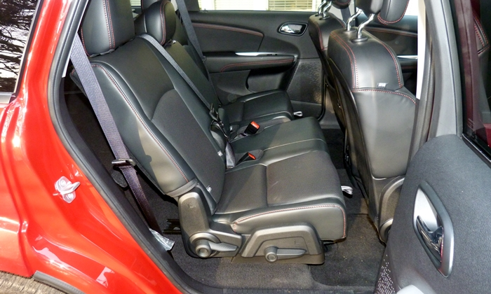 Dodge Journey Photos: 2013 Dodge Journey R/T rear seat slid forward