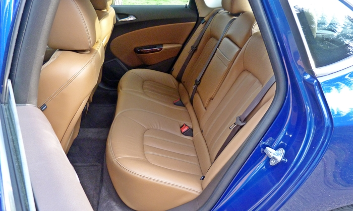 Verano Reviews: Buick Verano rear seat