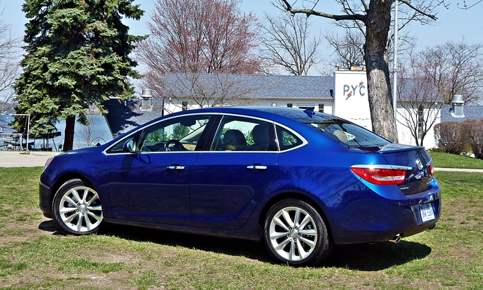 Verano Reviews: Buick Verano rear quarter view