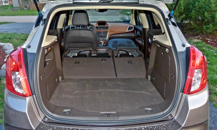 Encore Reviews: Buick Encore cargo area, seats folded