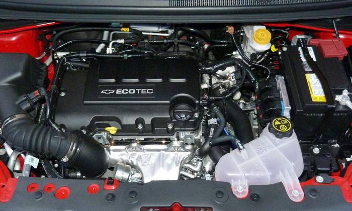 Sonic Reviews: Chevrolet Sonic RS engine