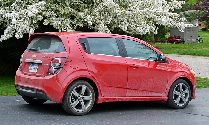 Sonic Reviews: Chevrolet Sonic RS rear quarter