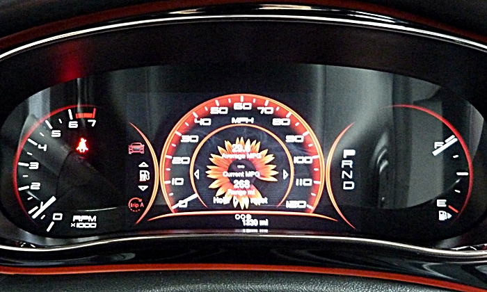 Dodge Dart Photos: Dodge Dart instrument cluster