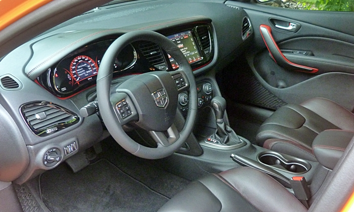 Dart Reviews: Dodge Dart GT interior