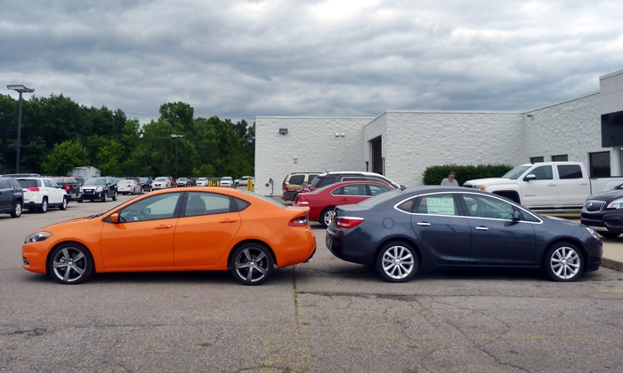 Dodge Dart Photos: Dodge Dart GT and Buick Verano