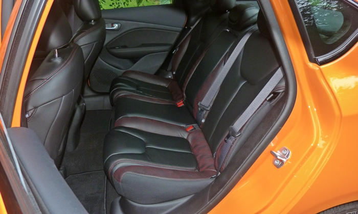 Dart Reviews: Dodge Dart GT rear seat