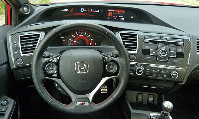 Civic Reviews: 2013 Civic Si instrument panel