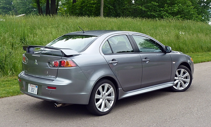 Lancer Reviews: Mitsubishi Lancer GT rear quarter