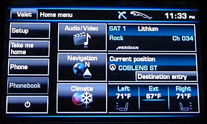Jaguar XJ Photos: 2013 Jaguar XJ touchscreen