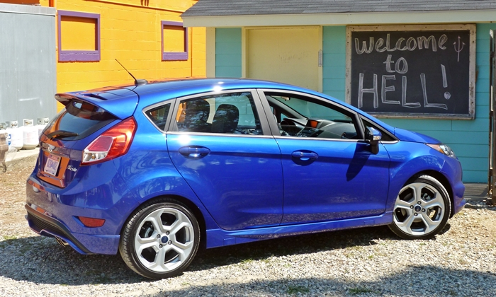 Ford Fiesta Photos: 2014 Ford Fiesta ST rear quarter hell